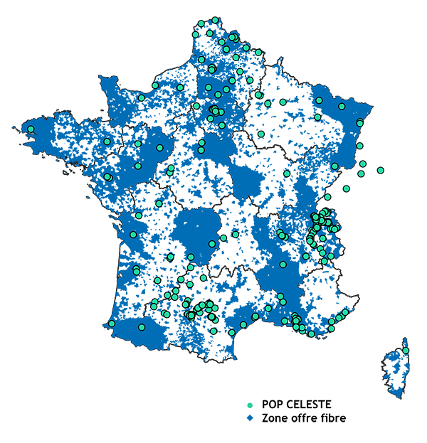 Carte réseau CELESTE Juillet 2020