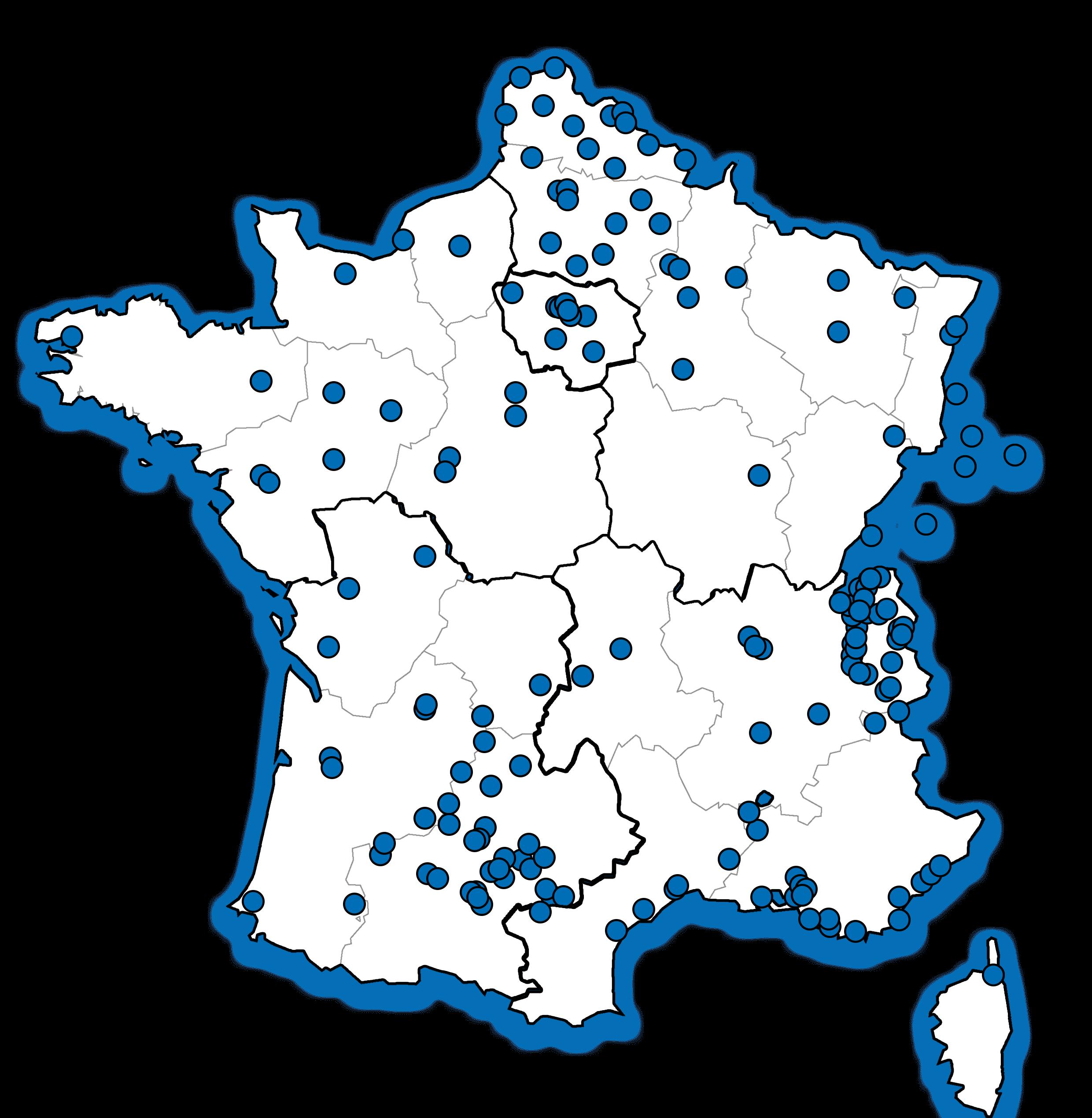 Carte France POP CELESTE
