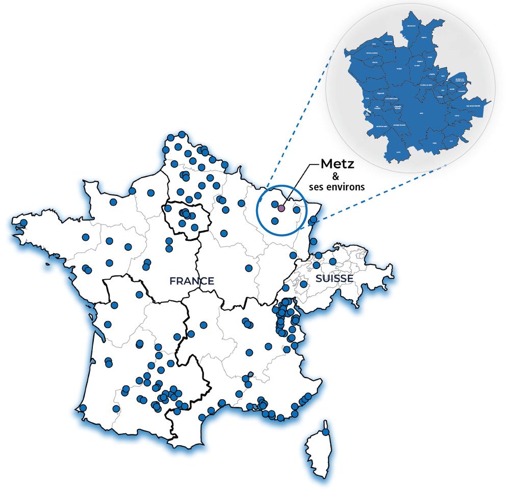 Carte Metz et ses environs