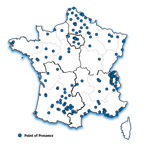 France Map with POPs